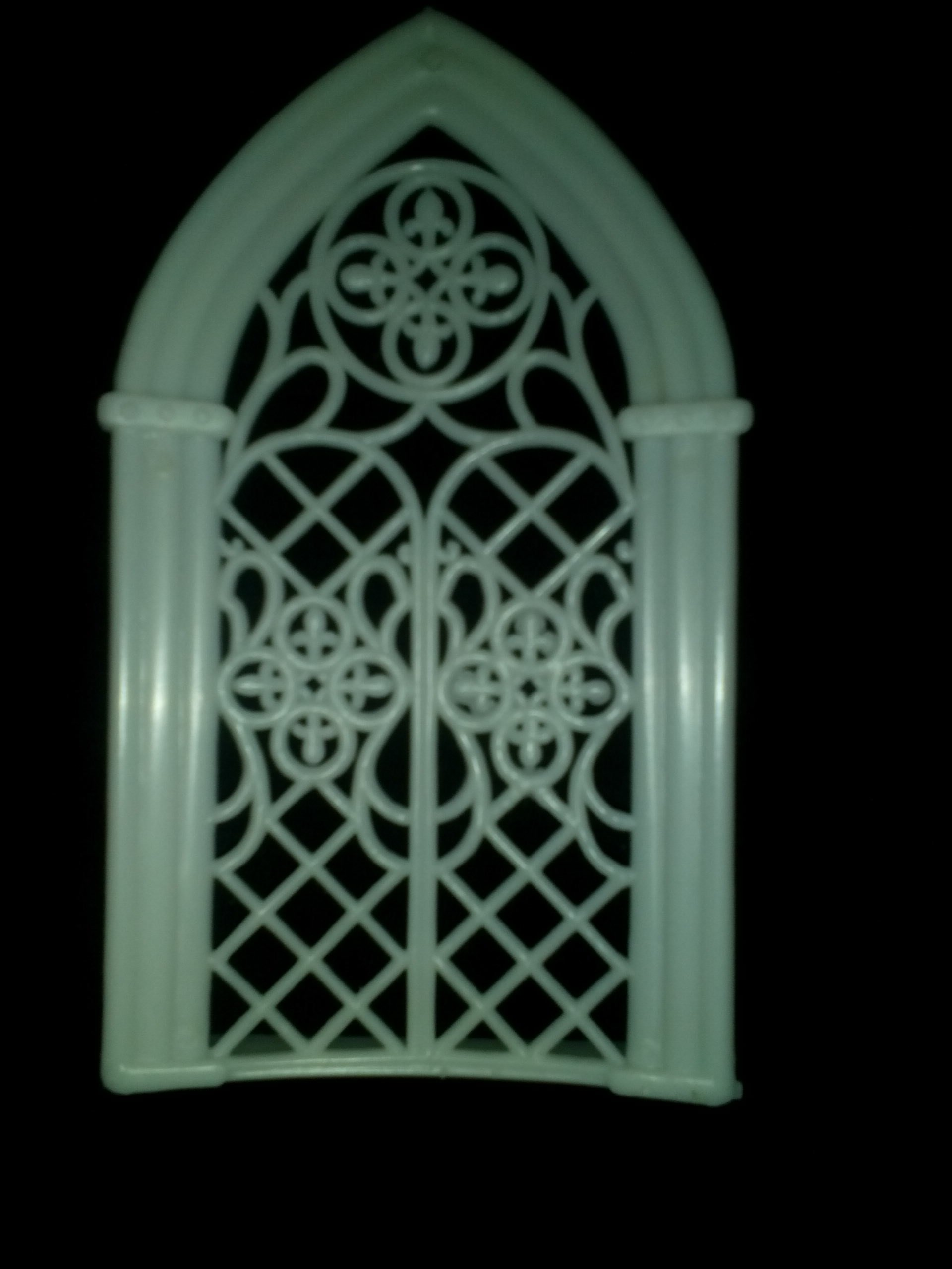 Church Window, 5.75'' Tall X 3.25'' Wide, White Plastic, Pack of 36 Pieces