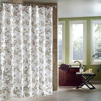 Duschvorhang überlänge duschvorhang 300x200 grau weiss weiß textil waschbar 100 polyester