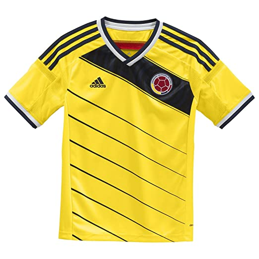 brand new cd0d3 93e37 Amazon.com: adidas Boys Soccer Colombia Home Replica Player ...