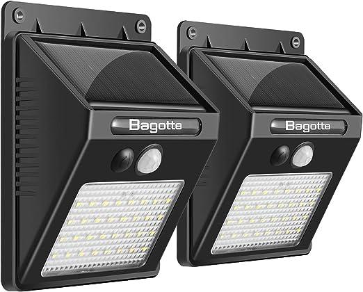 Luz Solar Jardín, Bagotte 32 LED Foco Solar Exterior con Sensor de ...