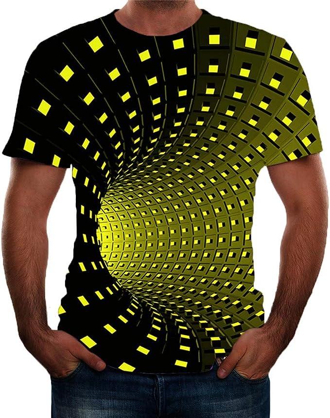 Rameng Camiseta Hombre Verano Manga Corta 3D Tendencia Patrones Impresión Moda Originales Camiseta Casual T-Shirt Blusas Camisas Camiseta Cuello Redondo Suave básica Camiseta Top 10: Amazon.es: Ropa y accesorios