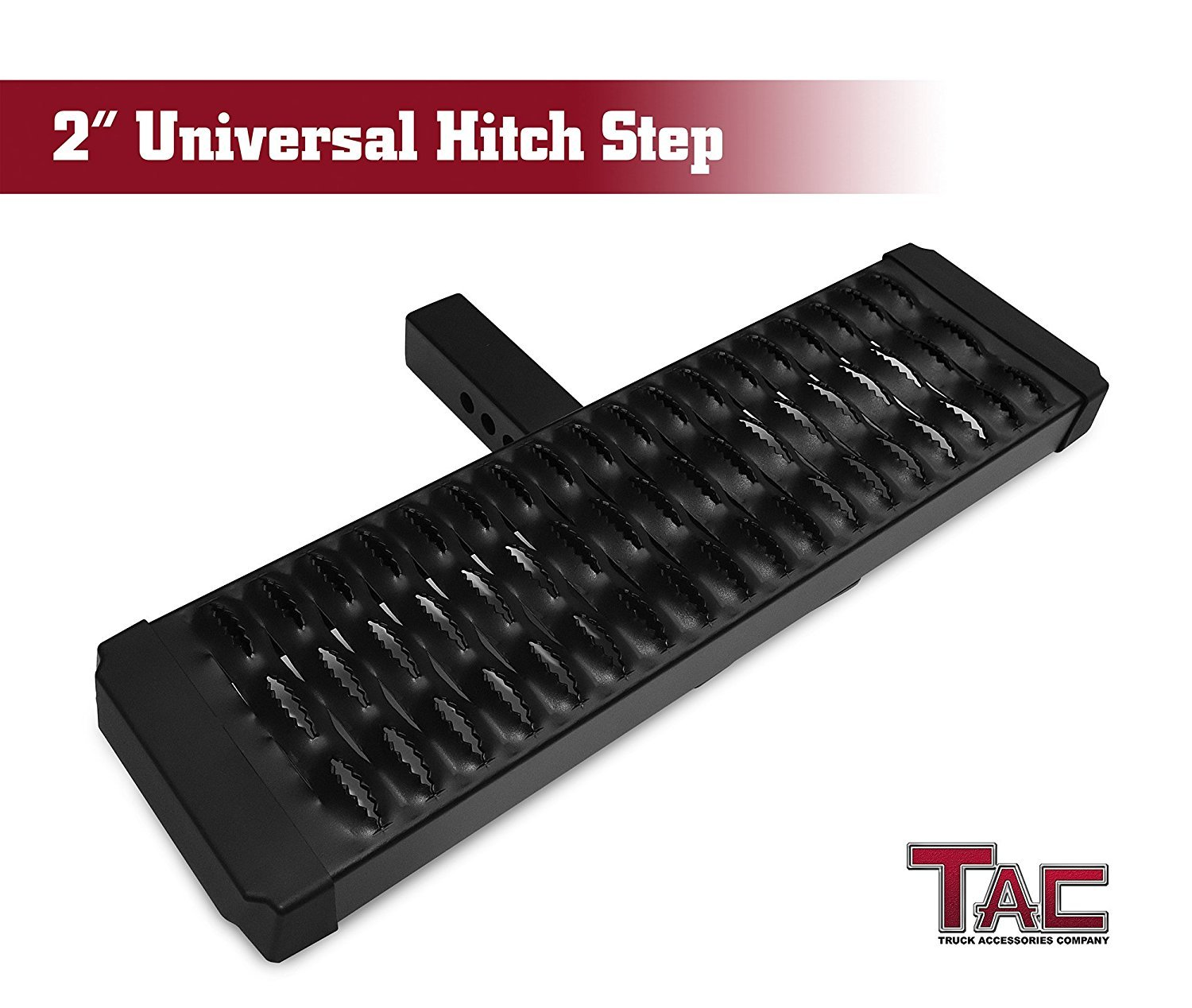 TAC Aluminum Hitch Step Universal Fit 2'' Rear Hitch Receivers with No Drop by TAC TRUCK ACCESSORIES COMPANY