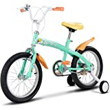 Costzon Kids Bike, Bicycle with Training Wheels & Hand Brake for Boys and Girls,