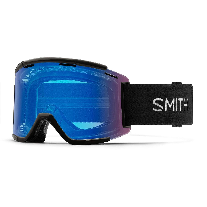 Smith Optics Squad XL 大人用オフロードサイクリングゴーグル - ブラック/クロマポップコントラストローズ/ワンサイズ