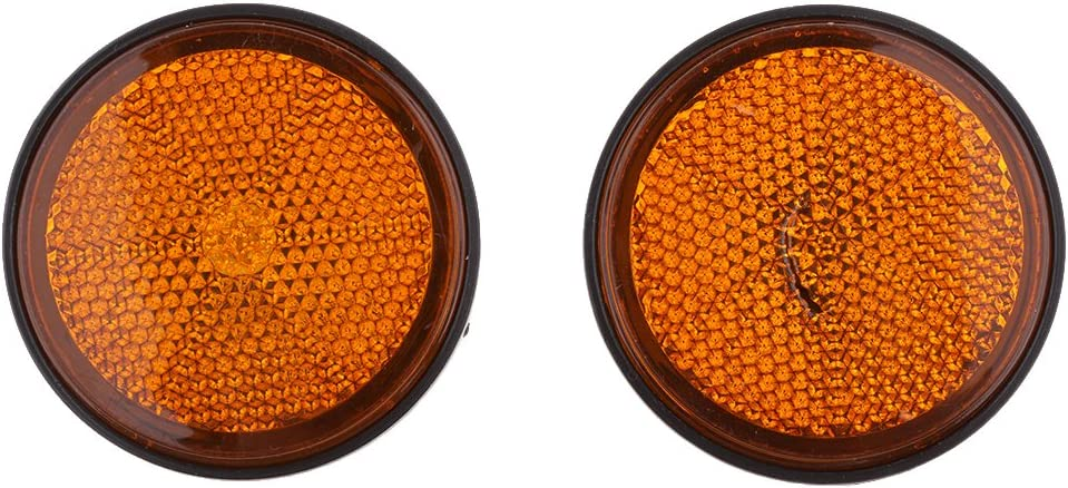 rot B Baosity 2pcs Reflektoren Rung 55mm Motorr/äder Reflektor
