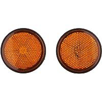 2pcs Led Reflector Redondo Indicador Luminoso para ATV Motocicleta - Naranja