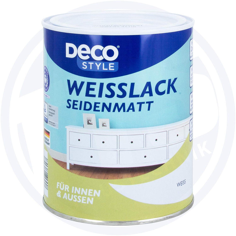 Gut bekannt Deco Style Weisslack Seidenmatt 1 Liter Buntlack (Weiss): Amazon ZS72