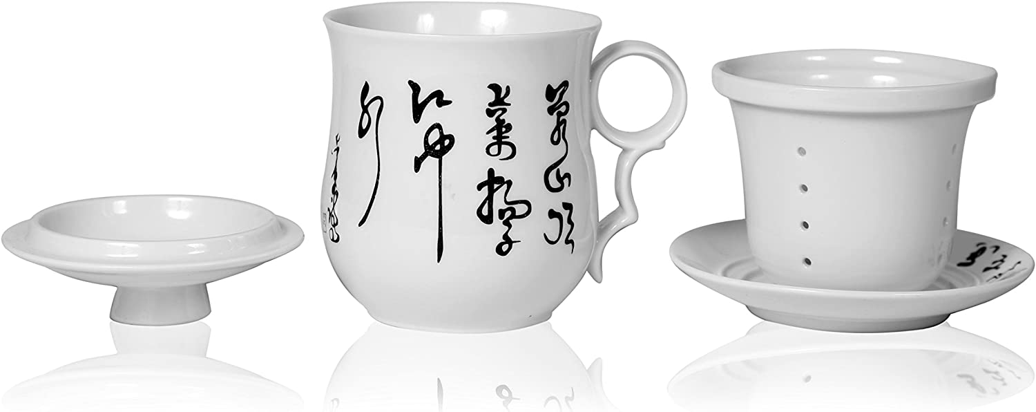 Chinese Calligraphy And Painting Teacup Vintage Tea Cups Ceramic Teacups Collectible Teacup  Cups Gift For Tea Lover Gift Package