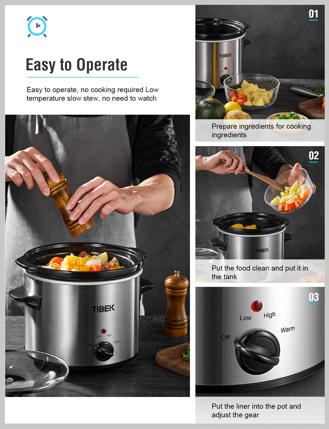 Slow Cooker 4 Quart Crock-pot and Slow Cookers, Portable ...