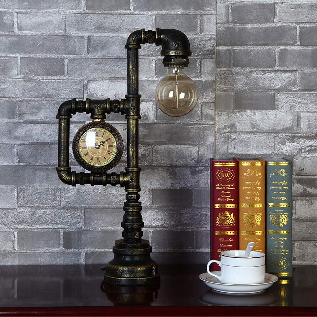 ノウ建材貿易 ガーデン、工業用テーブルライト器具の装飾バーレストランのコーヒーショップと家庭用のための錆びた水パイプライトフィッティング B07SHL7VC2