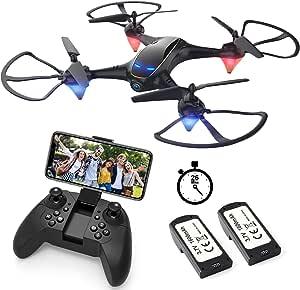 EACHINE E38 Drones con Cámara para Adultos LED Tiempo ...