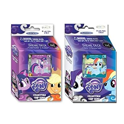 Twilight Sparkle & Rainbow Dash MLP Theme Deck Bundle: Toys & Games