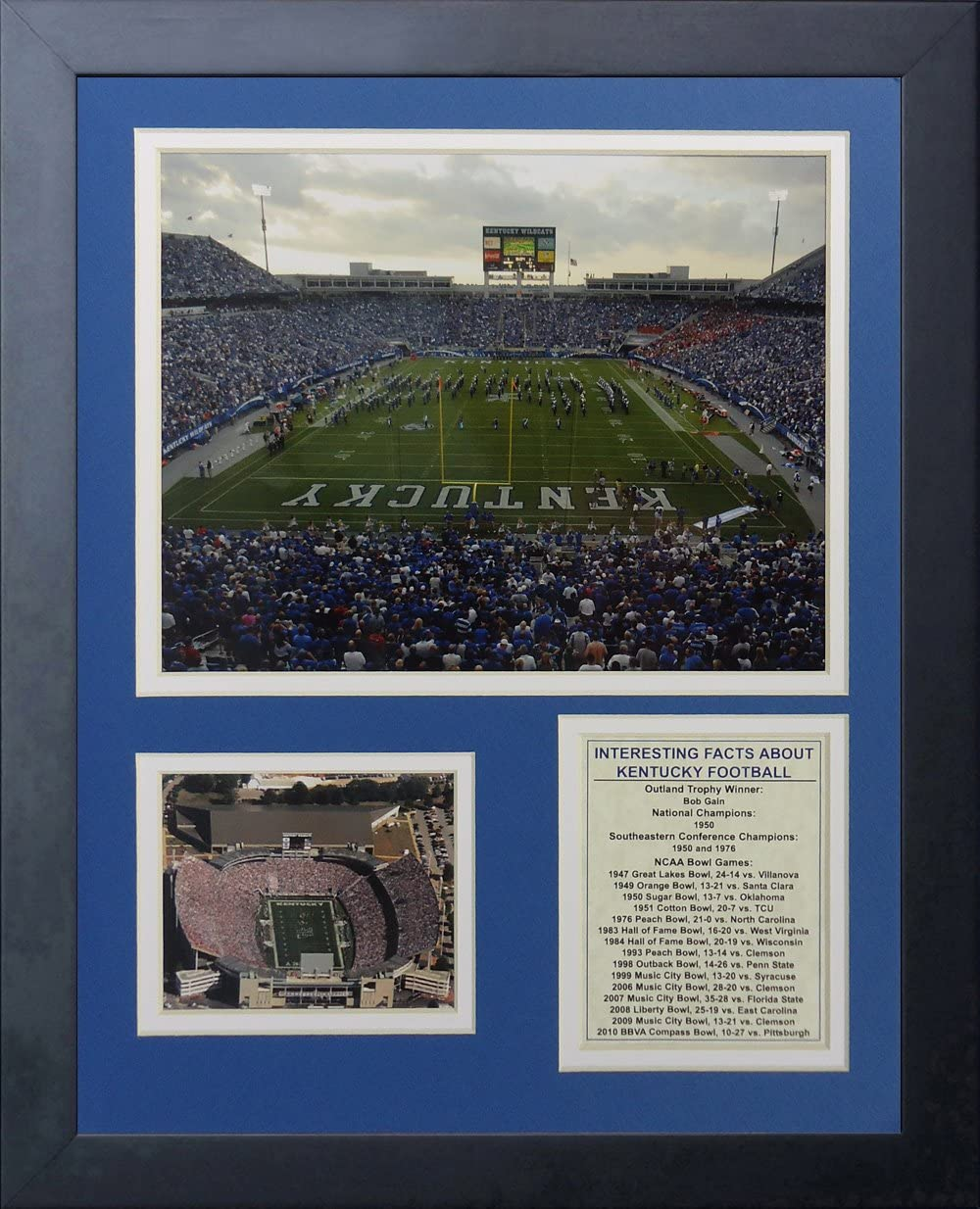 11 by 14-Inch Legends Never Die Kentucky Wildcats Commonwealth Stadium Framed Photo Collage