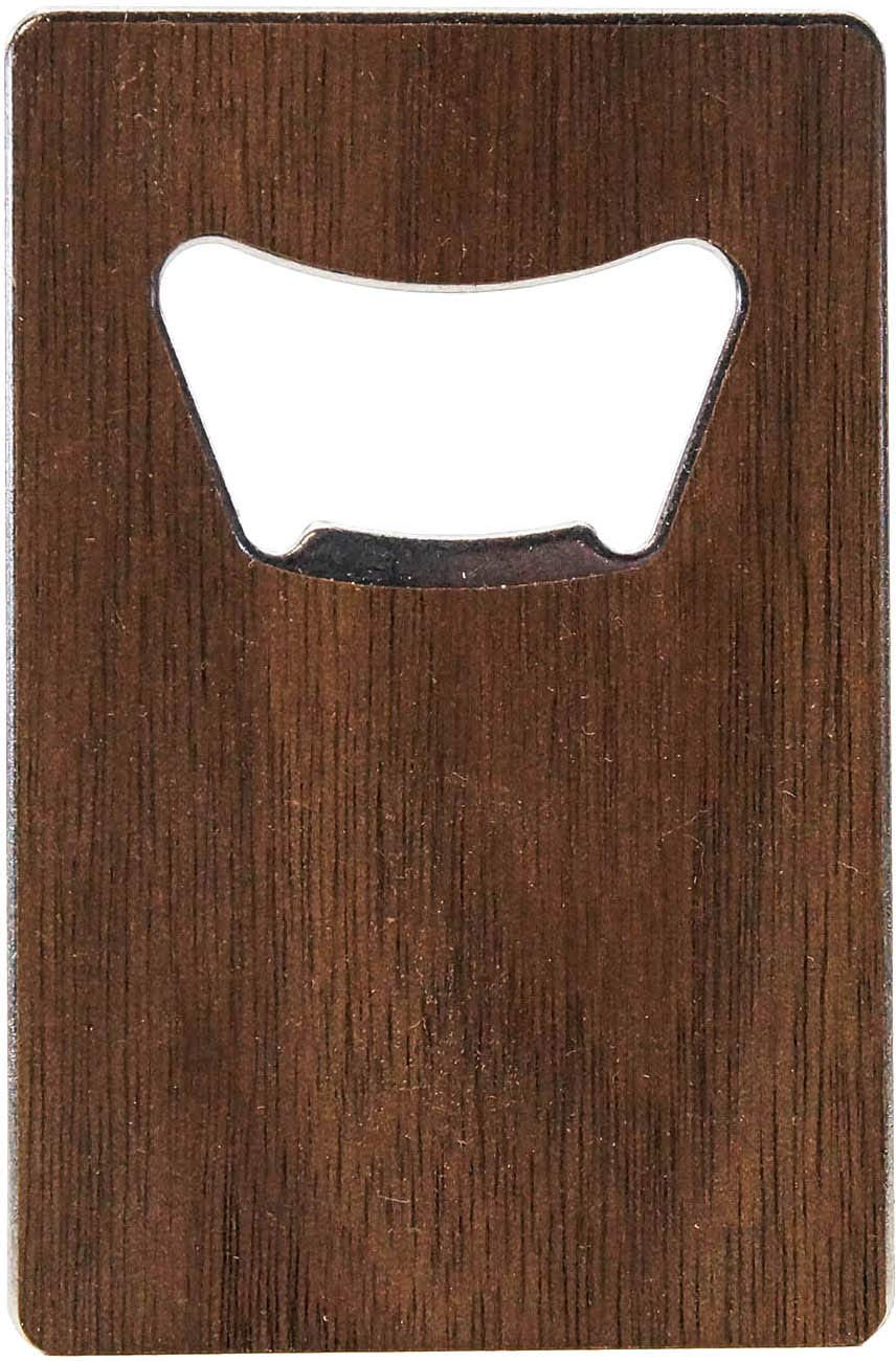WOODCHUCK/American Edition Wood Bottle Opener Credit Card Style-Mahogany WC-CCBO-USA