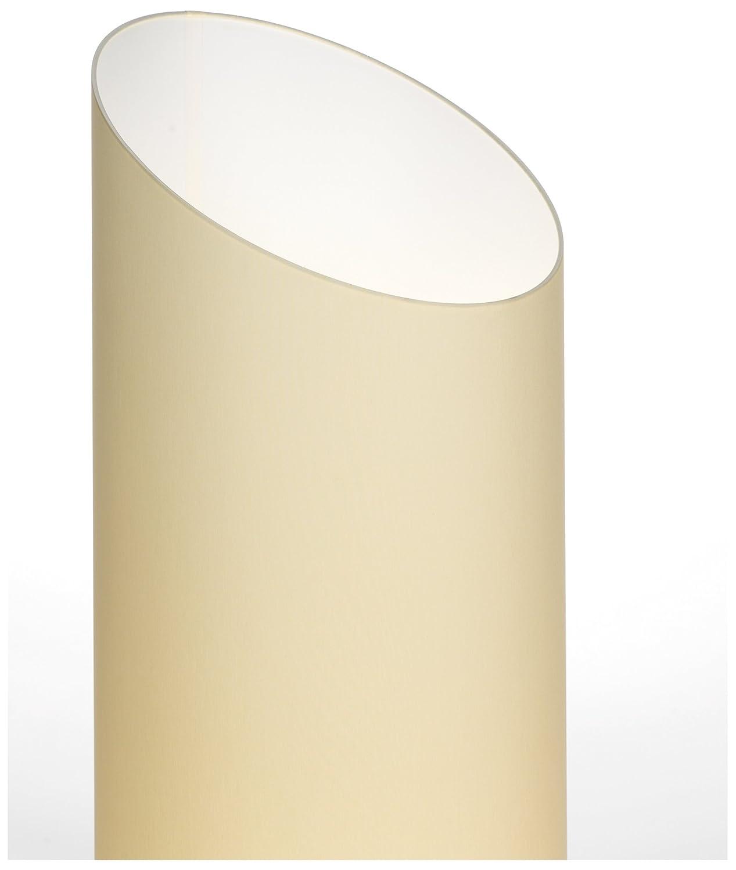 Morosini TE E26-Ivory/White Pank Cylindrical Floor Lamp ...