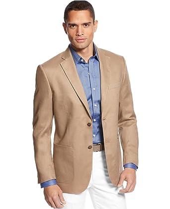 Tasso Elba Men's Linen Tan Linen Sport Coat Blazer Large at Amazon ...