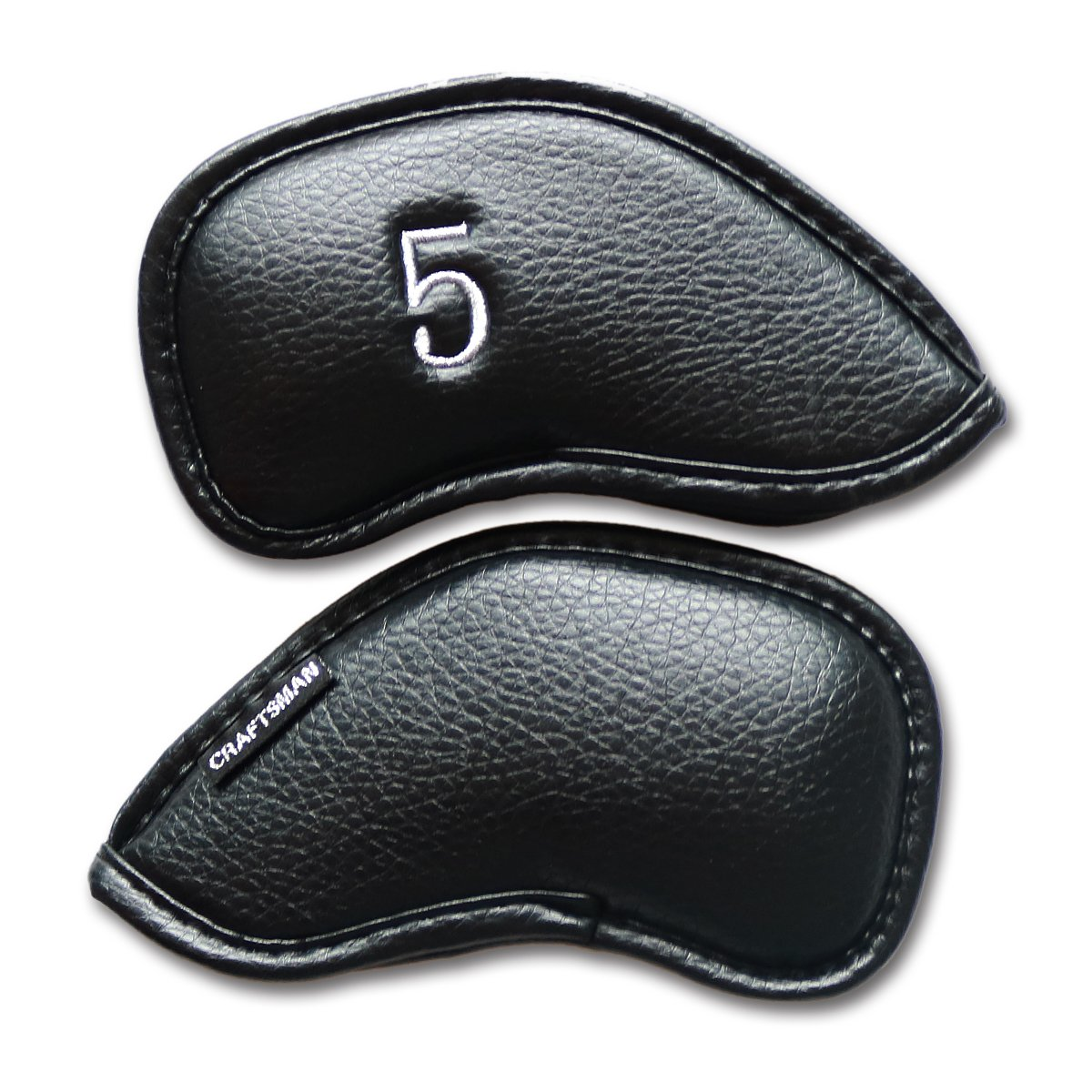 Craftsman Golf #3 #4 #5 #6 #7 #8 #9 AW SW PW LW Iron Headcovers Head Covers (#5) by Craftsman Golf
