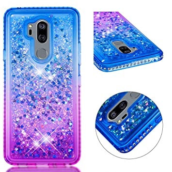 MUSESHOP Funda LG G7/G7 ThinQ, Purpurina Brillante Carcasa ...