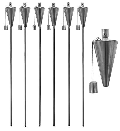 Garden Fire Torch Oil Paraffin Outdoor Flame Lantern 146cm Round Design