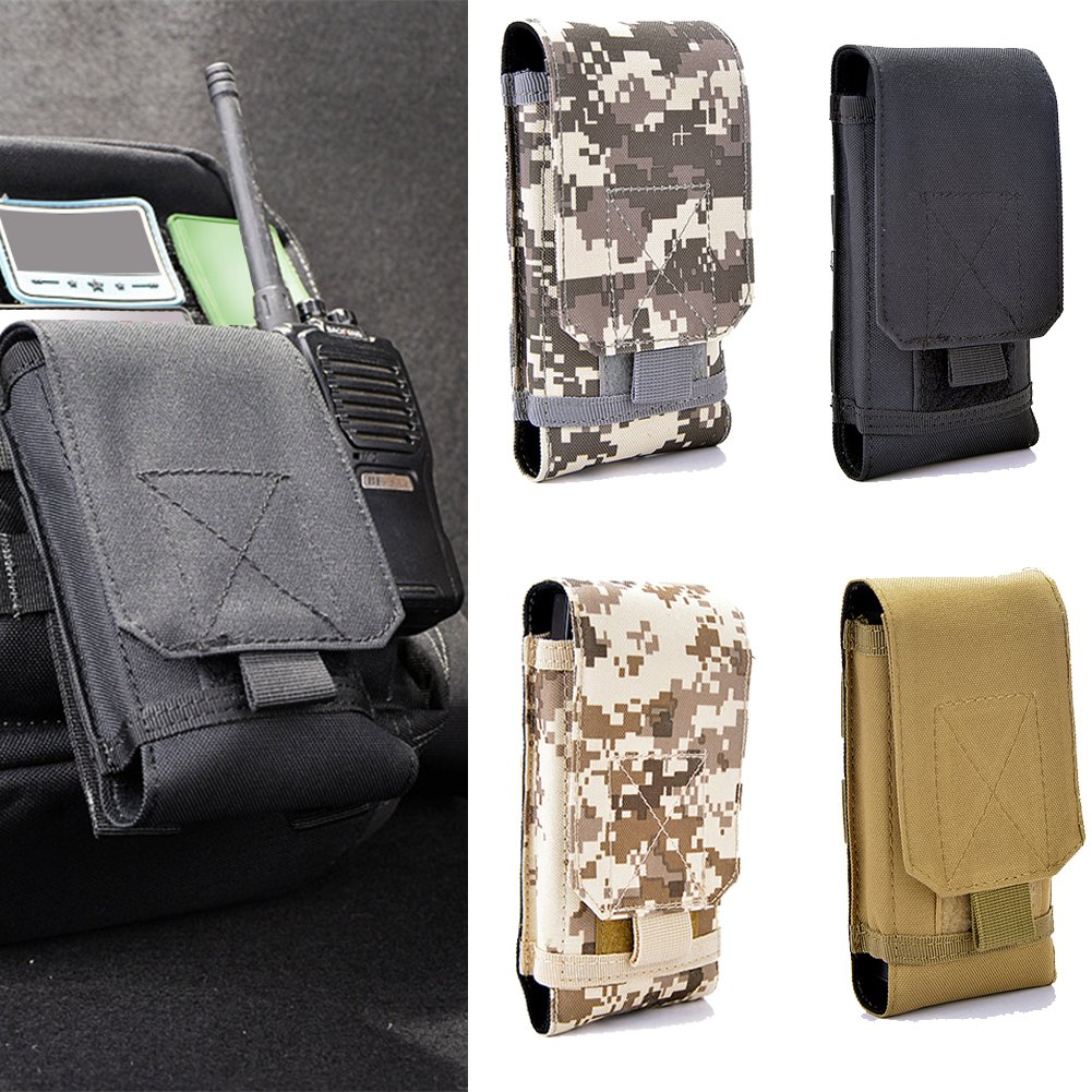UxradG Bolsa de nailon para teléfono al aire libre. Bolsa de cintura multiusos, práctica y compacta, para teléfono móvil y otras pequeñas herramientas (tamaño pequeño)