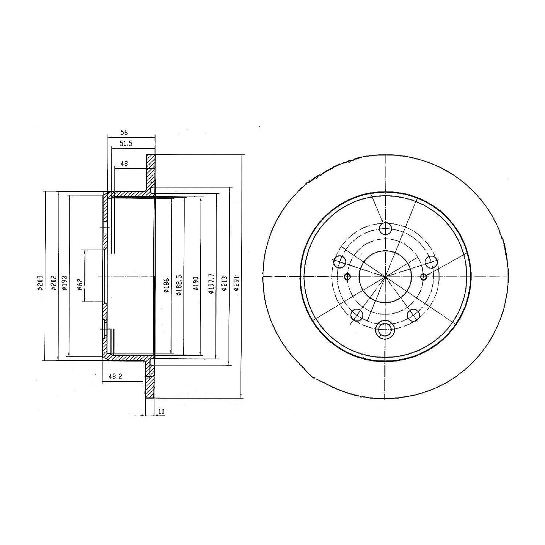 Bg4178 Disque De Delphi Frein Rotors Freins À mN8Ov0nw