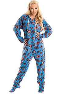 Captain America Marvel Blue Unisex Adult Footed Onesie Pajamas for Men and  Women 4f9cc38cc