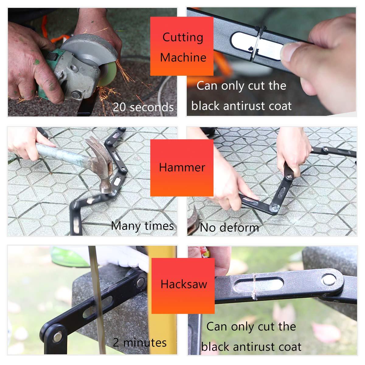 WHEEL UP Folding Bike Lock Heavy Duty Combination//Key Lock Anti-Hydraulic with Mounting Bracket