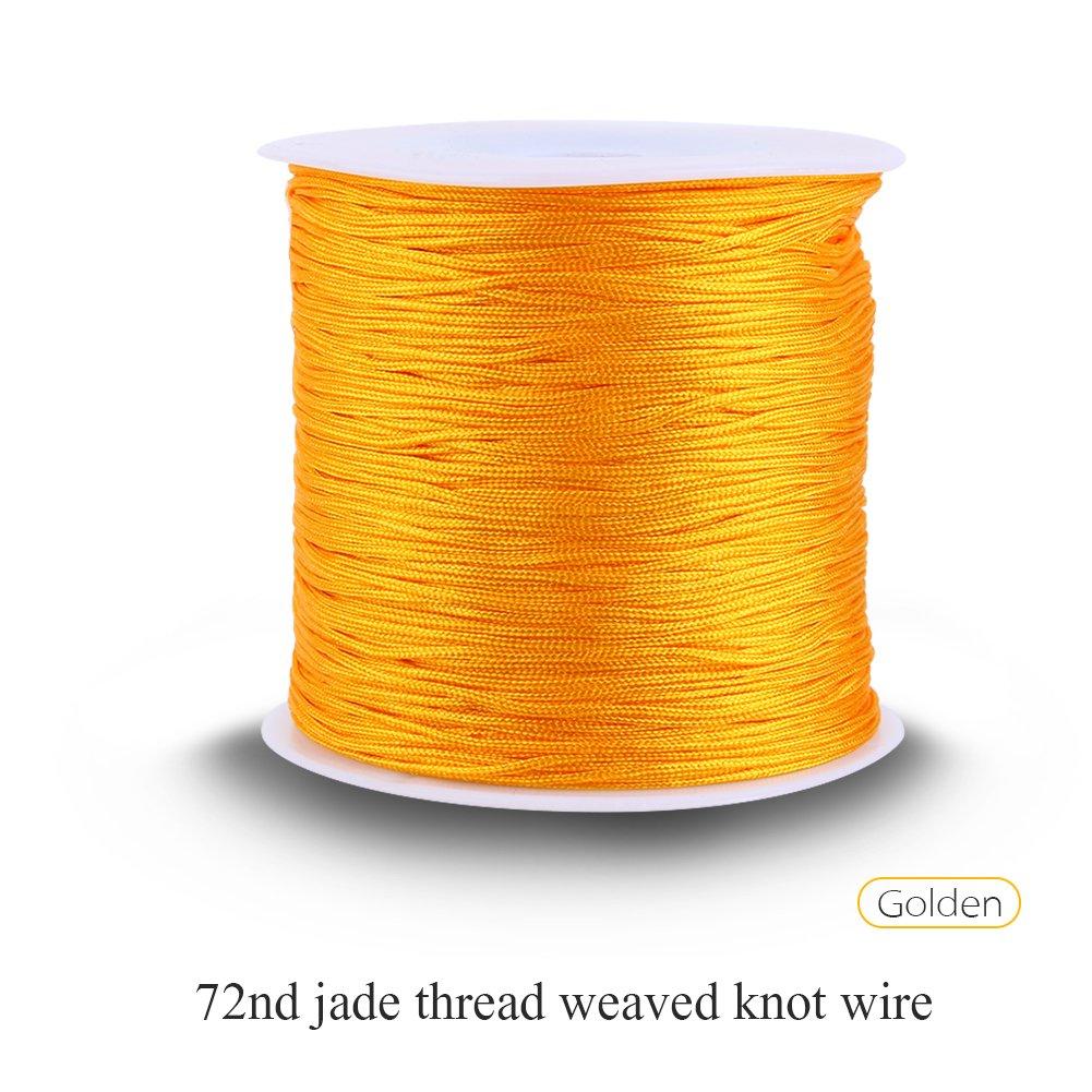 100m X 08mm Nylon Chinese Knot Cord Rattail Macrame Wiring A Lamp Shamballa Thread String Gold