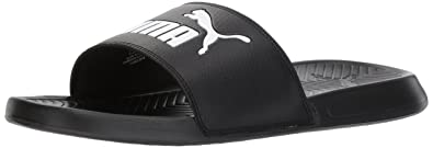 1b5a65ddaaed PUMA Men s Popcat Slide Sandal Black White