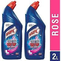 Harpic Powerplus Toilet Cleaner - 1000 ml (Rose, Pack of 2)