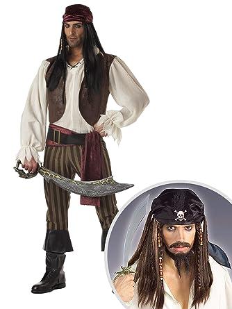 Amazon.com: Rogue - Kit de disfraz de pirata para adulto ...