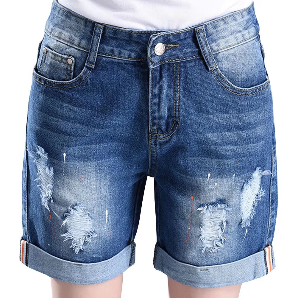 Women's Lovely Holes Jeans Shorts