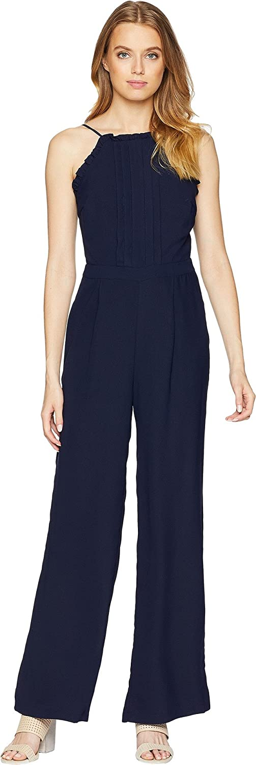 Adelyn Rae Womens Woven Apron Style Jumpsuit