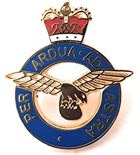 MOD Military Approved RAF Enamel Pin Badge Royal Air Force RAF Round Crest