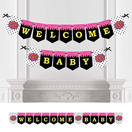 4e2a338ef74 Image Unavailable. Image not available for. Color  Big Dot of Happiness  BAM! Girl Superhero - Baby Shower ...