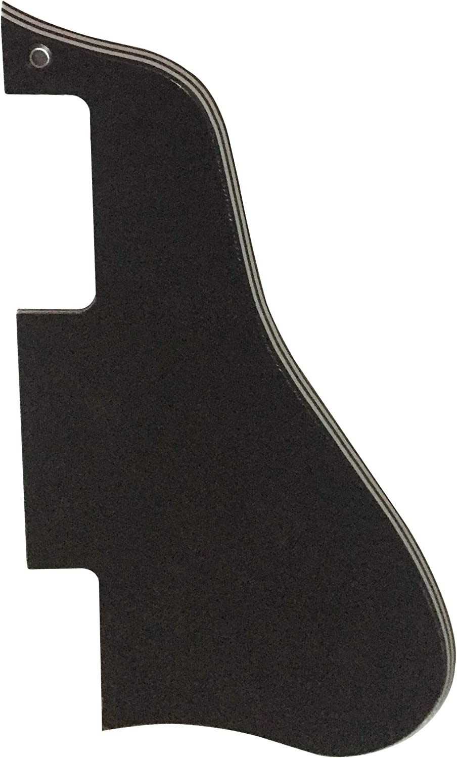 Custom For Gibson ES-335 Style Short Electric Guitar Pickguard 5 Ply Black