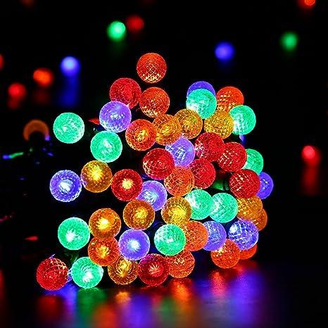 Brizled 12M 100 Luces LED Cadena de Navidad con Globo Tamaño G14 Decoración de Navidad para