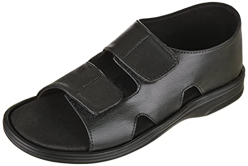 f55a8fd15 Ortho & DiaCare Men's Diabetic and Orthopedic Mcp Black Vinyl Sandal with  Adjustable Strap and Extra