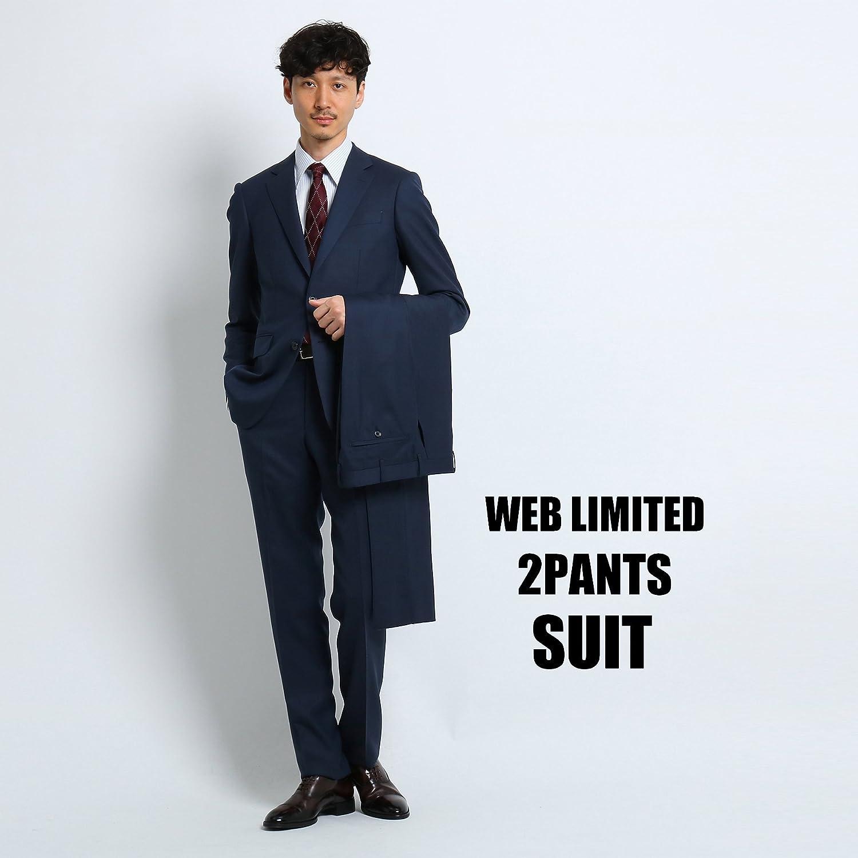 (タケオキクチ) TAKEO KIKUCHI 【 WEB 限定 】バーズアイツーパンツスーツ [ メンズ スーツ ツーパンツ ] G8764998 B07FJRHWSR 03(L)|ネイビー(093) ネイビー(093) 03(L)