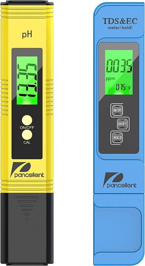 Tester della qualit/à dellacqua 5 in 1 Misuratore di test della qualit/à dellacqua Funzione PH Salinity TDS Tester EC con retroilluminazione il tester della qualit/à dellacqua misura PH, TDS, EC
