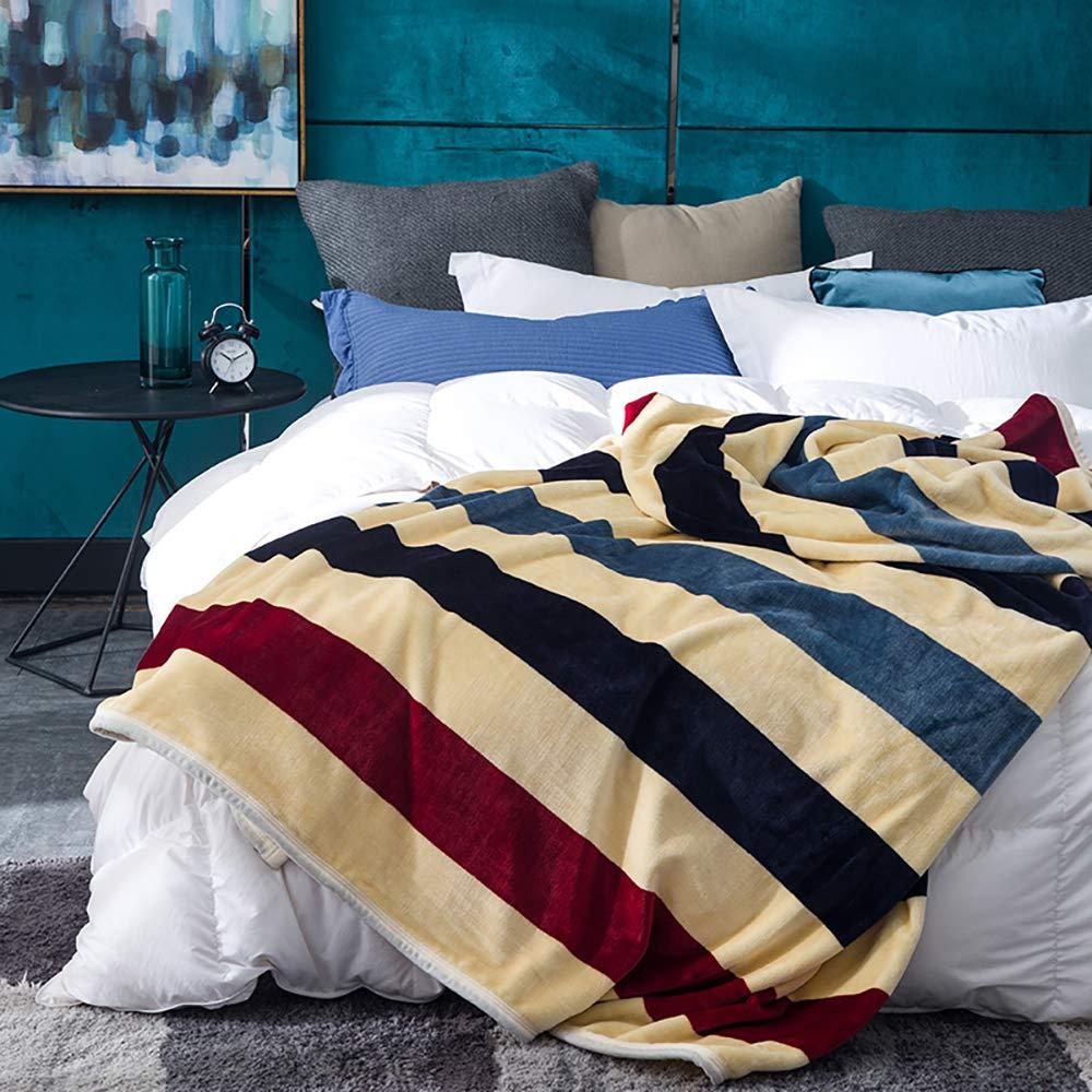 Fleece Throw Blanket for All Season,Twin Size Yi Erman Fleece Blanket Blue Star Soft Microfiber Flannel Blanket C6