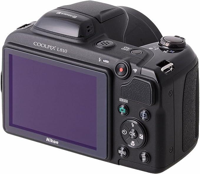 Nikon Coolpix L810 Digitalkamera 3 Zoll Schwarz Kamera