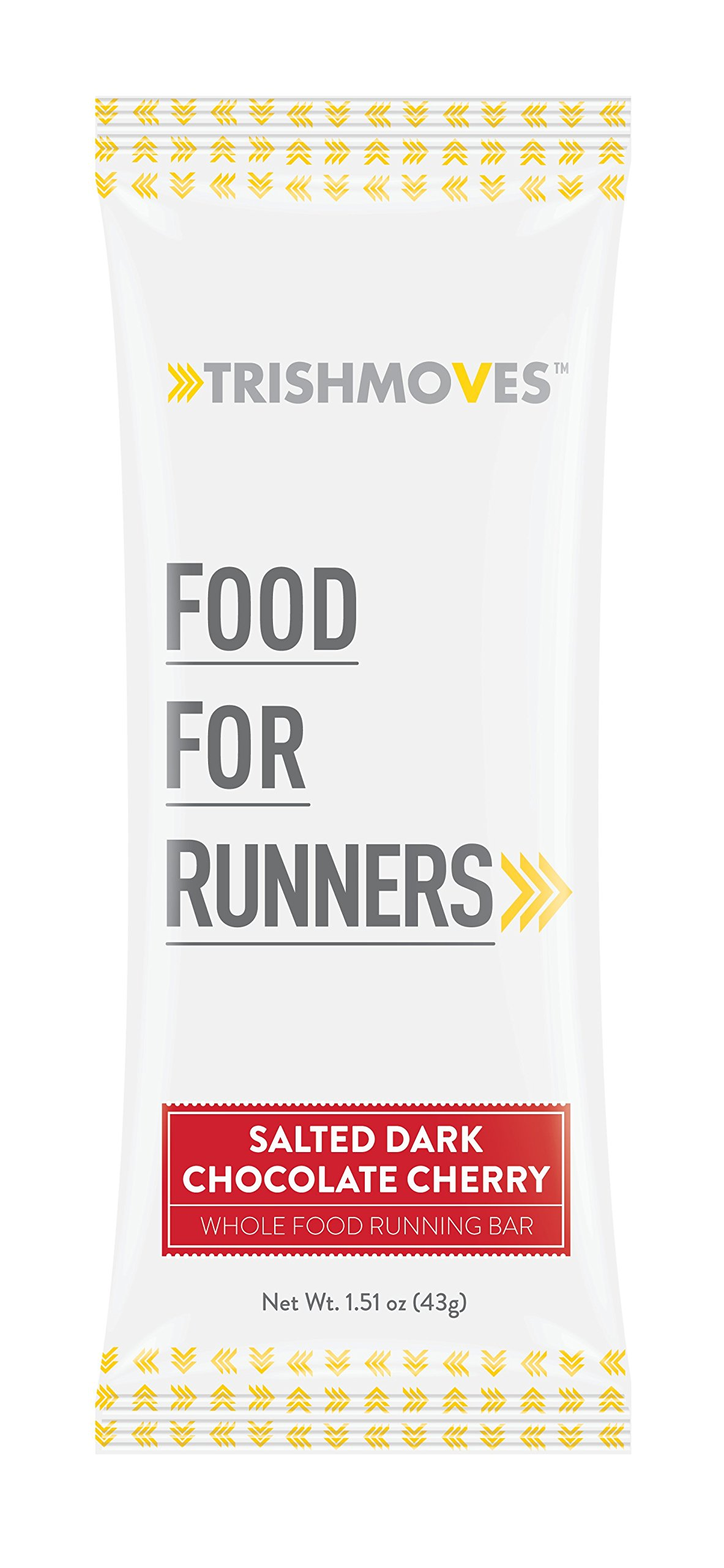 Trishmoves Salted Dark Chocolate Cherry Running Bar - 12 Pack