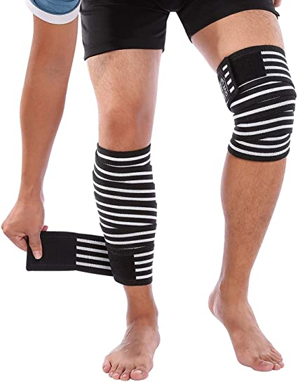 Amazon Com Compression Knee Wrap Bandages Knee Brace Support