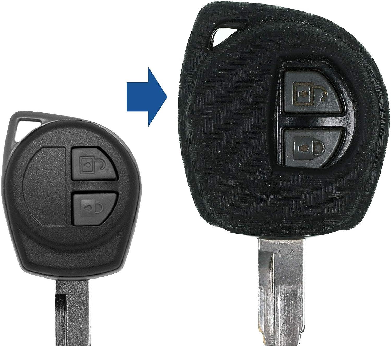 Auto Schlüssel Hülle Carbon Kompatibel Mit Nissan Pixo Suzuki Alto Grand Vitara Sx4 Swift
