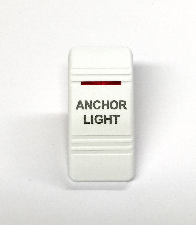 Black//no label 2 BLUE lens marine Contura II Rocker Switch Carling lighted