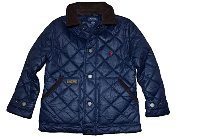 2e4730d6a Amazon.com  Polo Ralph Lauren Boys Quilted Jacket Barn Coat 4 4T ...