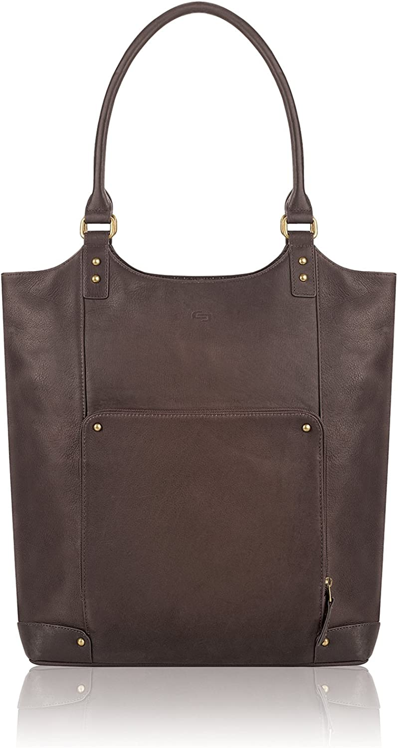 """Solo New York Vintage 16"""" Leather Bucket Tote"""