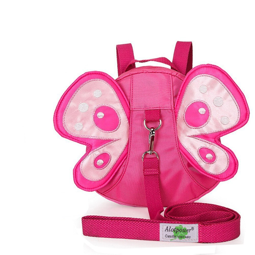 Alotpower Baby Butterfly Anti-lost Backpack Walking Safety Harness Reins Leash