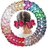 30PCS Baby Girls Hair Bows Clips Glitter Grosgrain Ribbon 4.5Inch Hair Bows Alligator Hair Clips for Girls Toddlers Kids…